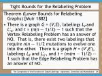 tight bounds for the relabeling problem24