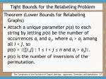 tight bounds for the relabeling problem27