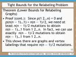 tight bounds for the relabeling problem29