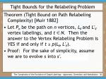 tight bounds for the relabeling problem30