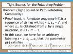 tight bounds for the relabeling problem31