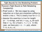 tight bounds for the relabeling problem32