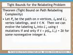 tight bounds for the relabeling problem35