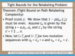 tight bounds for the relabeling problem37
