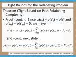 tight bounds for the relabeling problem38