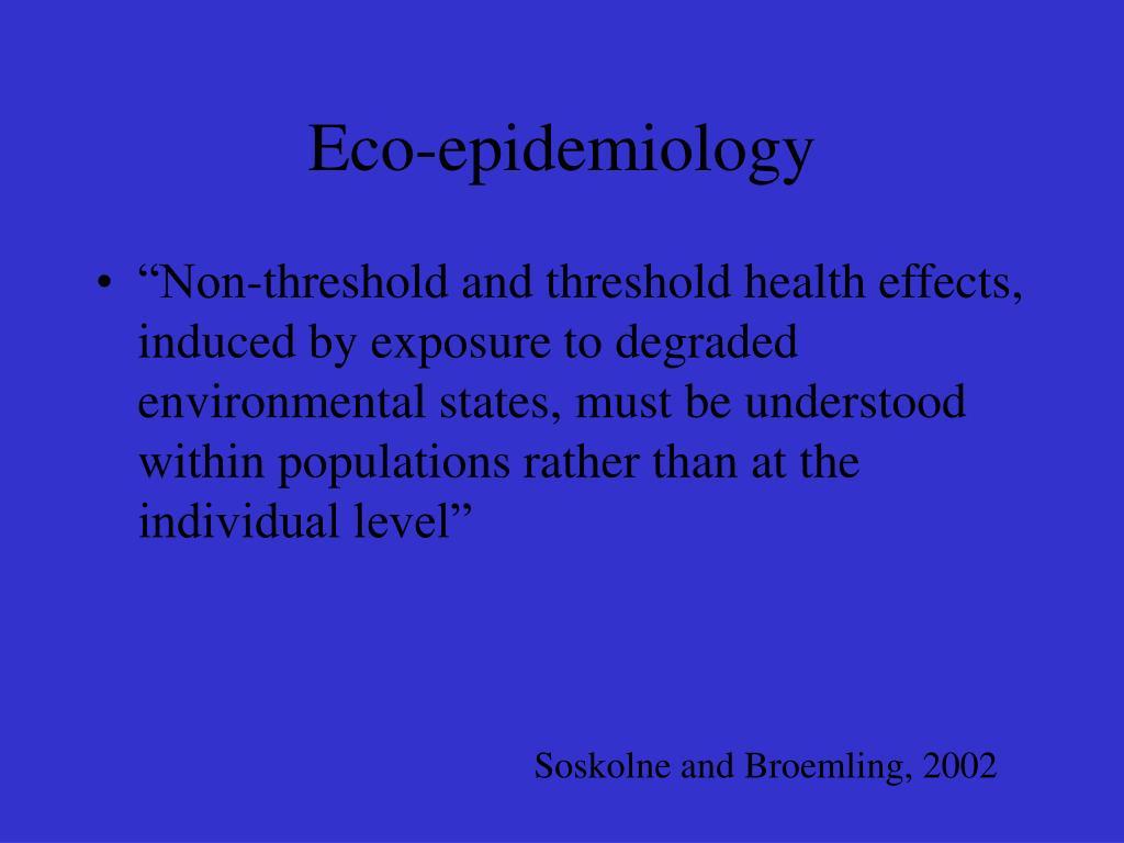Eco-epidemiology