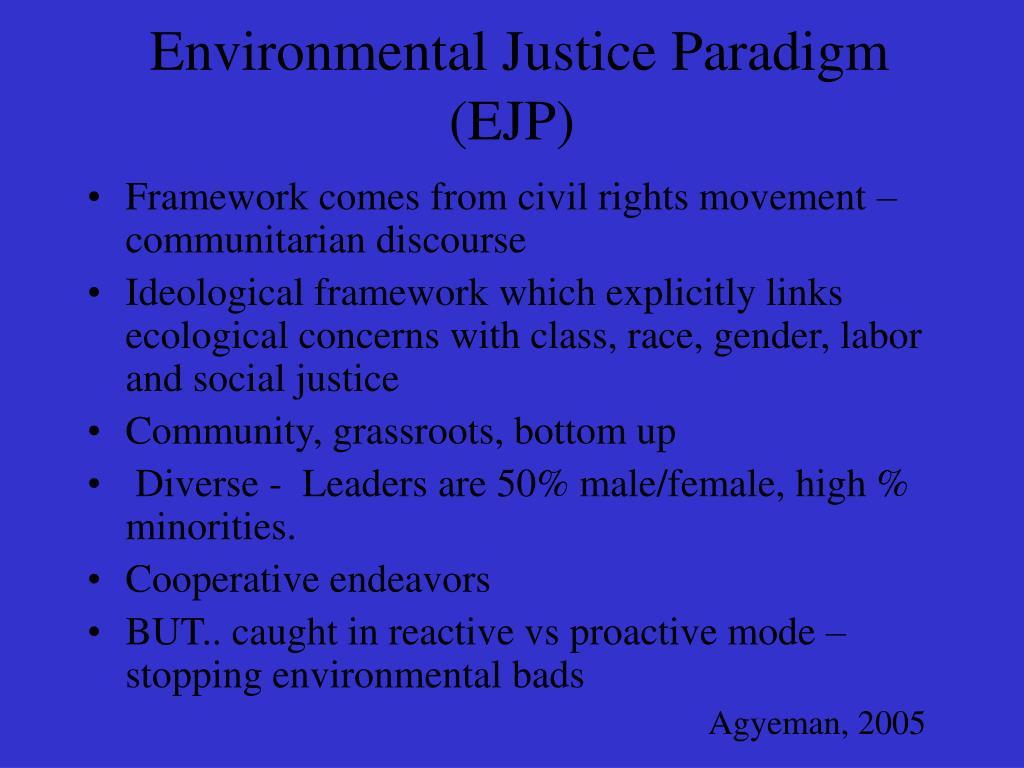 Environmental Justice Paradigm (EJP)
