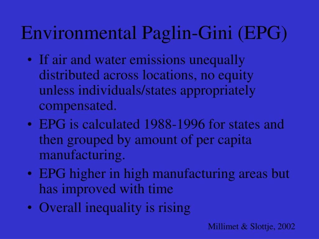 Environmental Paglin-Gini (EPG)