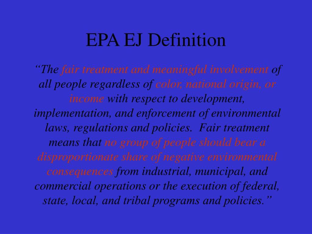 EPA EJ Definition