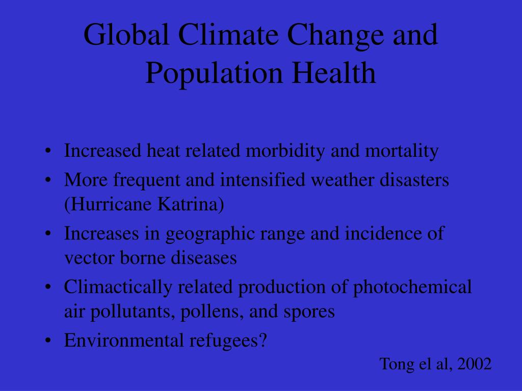 Global Climate Change and Population Health