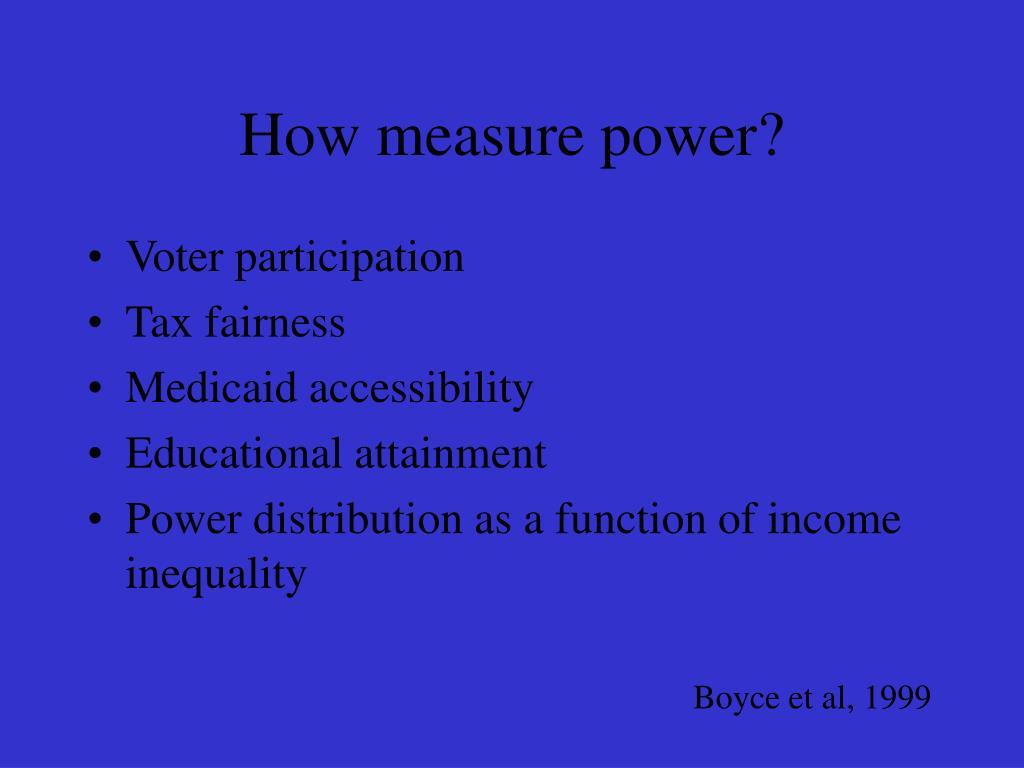 How measure power?