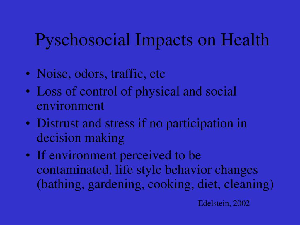Pyschosocial Impacts on Health