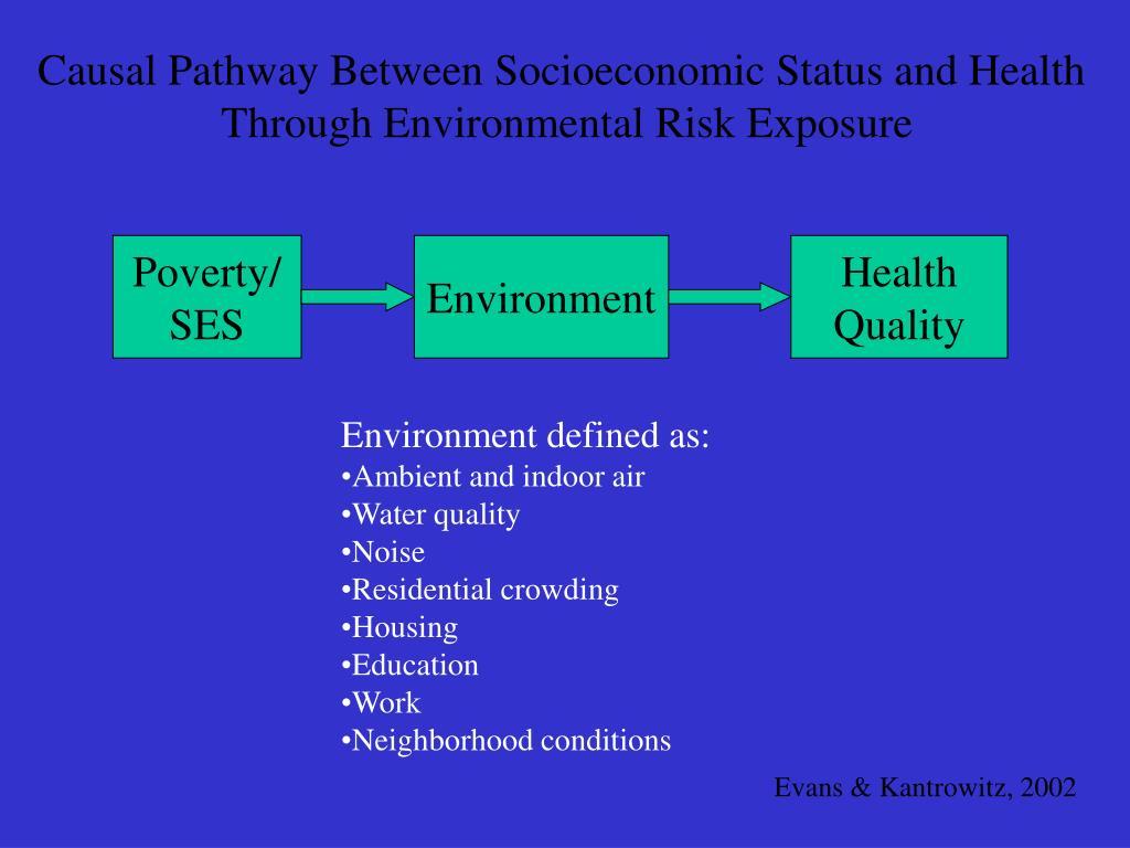 Causal Pathway Between Socioeconomic Status and Health