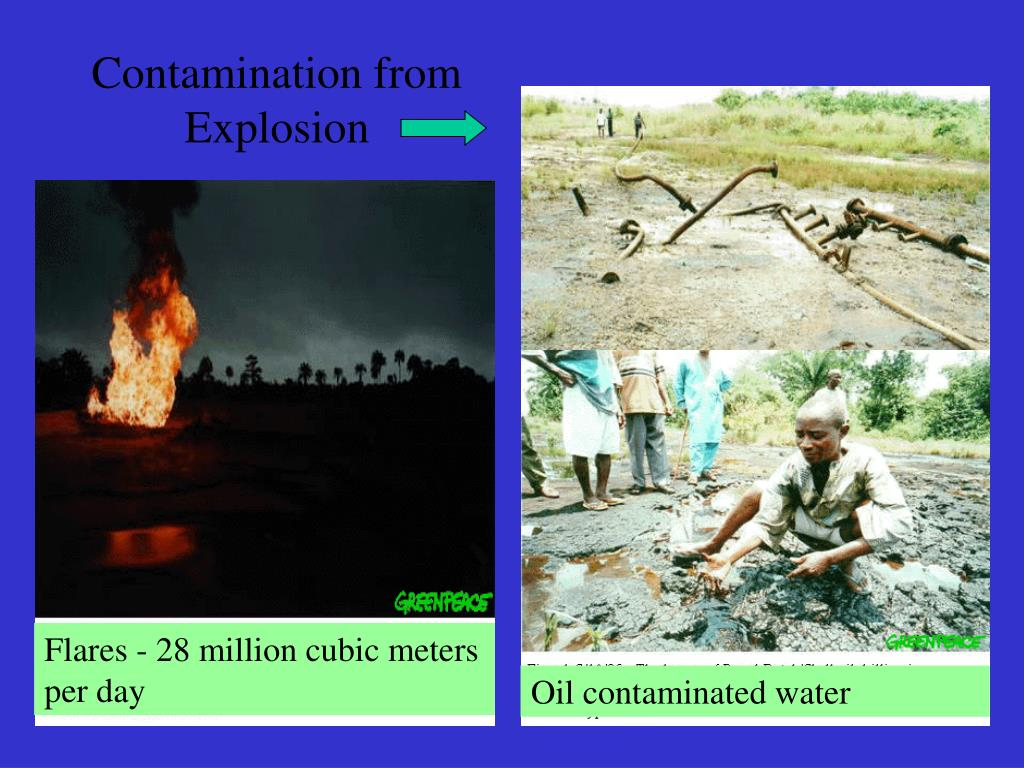 Contamination from Explosion