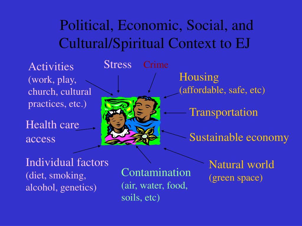 Political, Economic, Social, and Cultural/Spiritual Context to EJ
