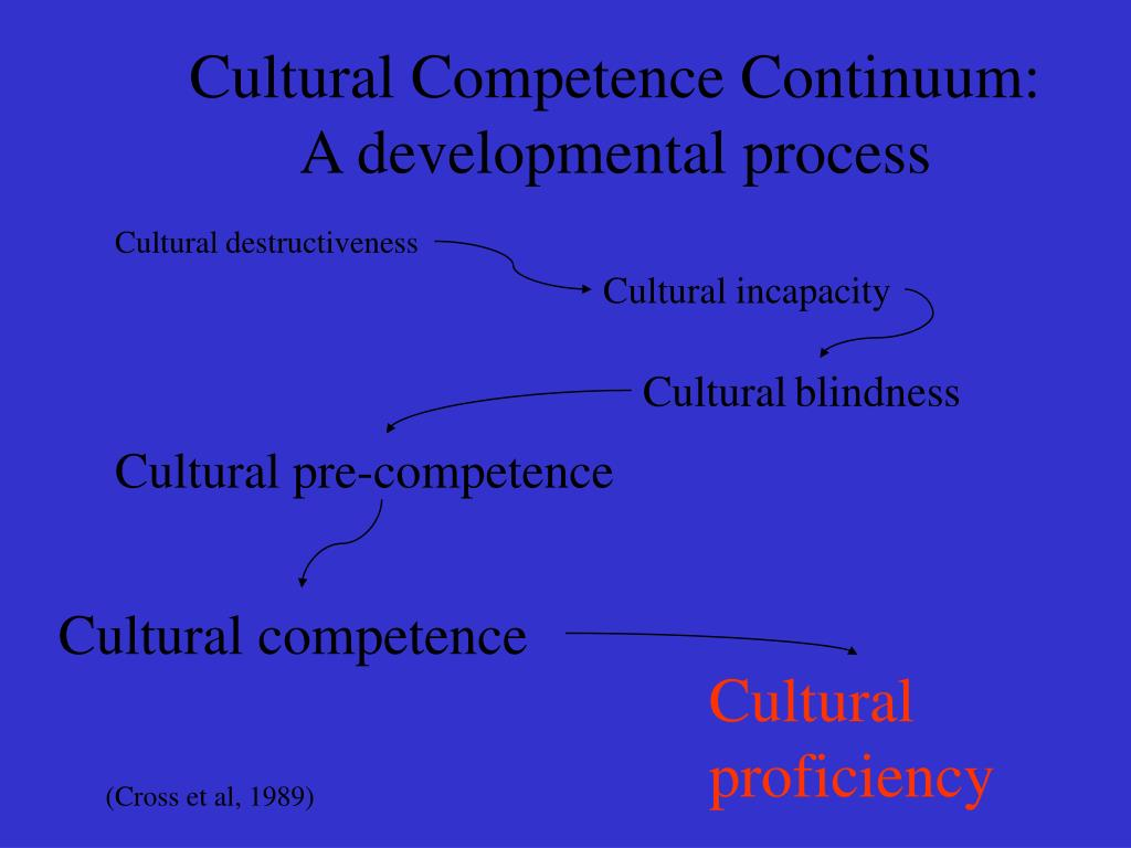 Cultural Competence Continuum: