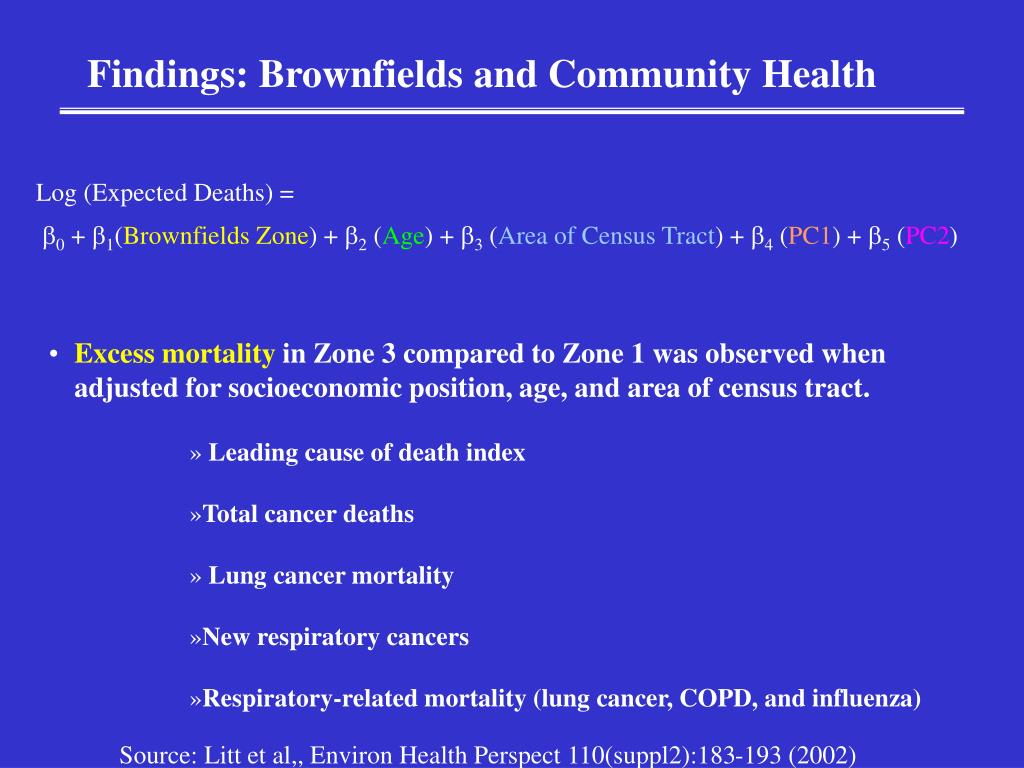 Findings: Brownfields and Community Health