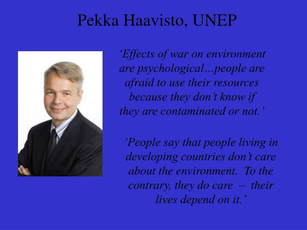 Pekka Haavisto, UNEP