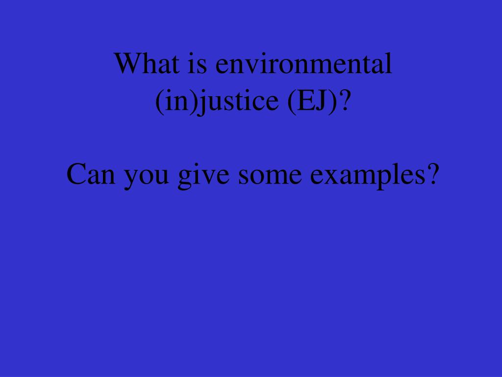 What is environmental