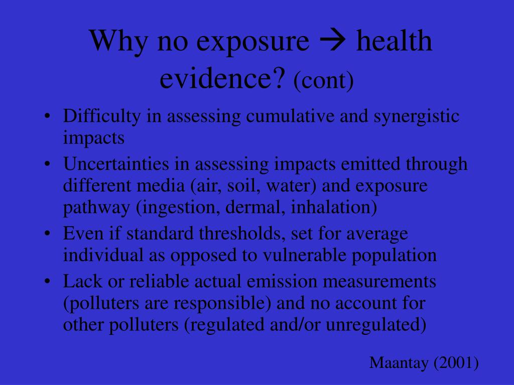 Why no exposure