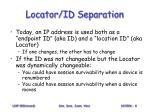 locator id separation