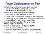 rough implementation plan