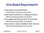 site based requirements