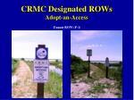 crmc designated rows adopt an access13