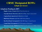 crmc designated rows adopt an access18
