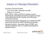 impact on georgia education