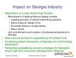 impact on georgia industry