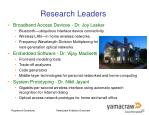 research leaders