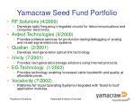 yamacraw seed fund portfolio