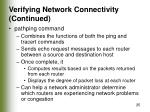 verifying network connectivity continued25