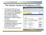 the grants center of excellence coe
