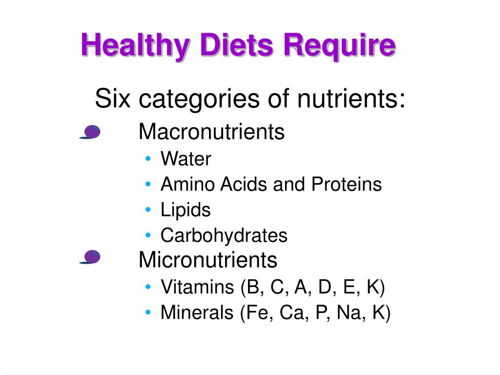 Healthy Diets Require