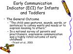 one igdi early communication indicator eci for infants and toddlers