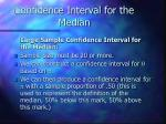 confidence interval for the median
