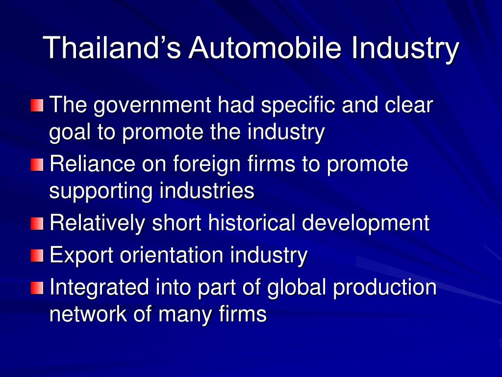 Thailand's Automobile Industry