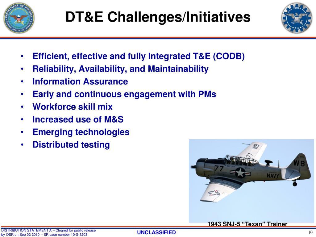 DT&E Challenges/Initiatives