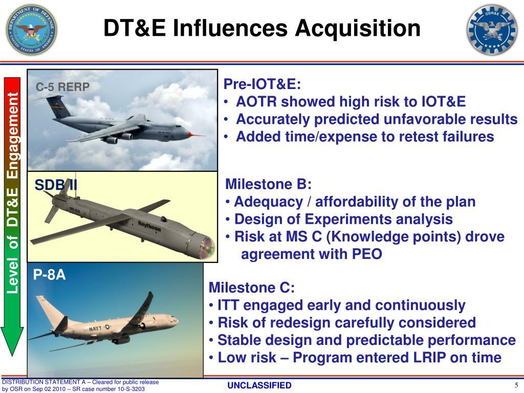 DT&E Influences Acquisition