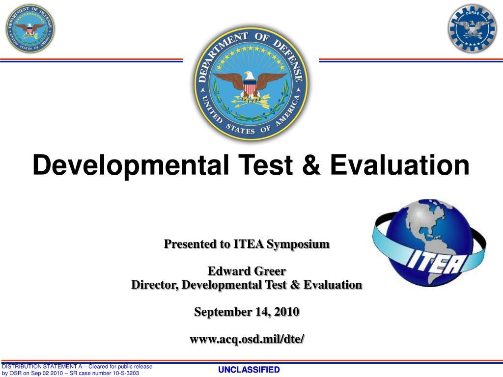 Developmental Test & Evaluation