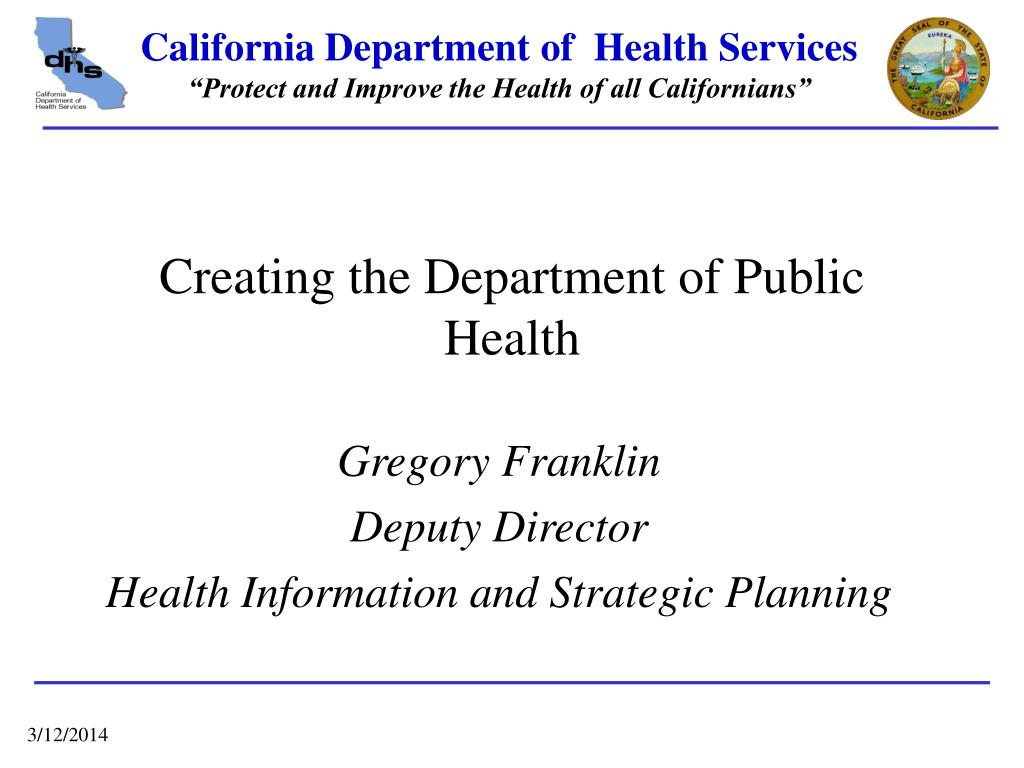 creating the department of public health l.