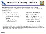 public health advisory committee
