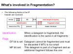 what s involved in fragmentation