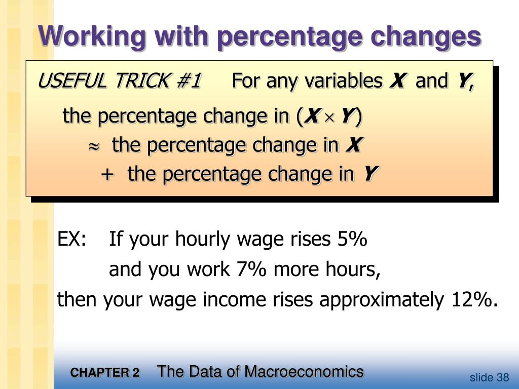 Working with percentage changes