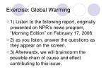 exercise global warming
