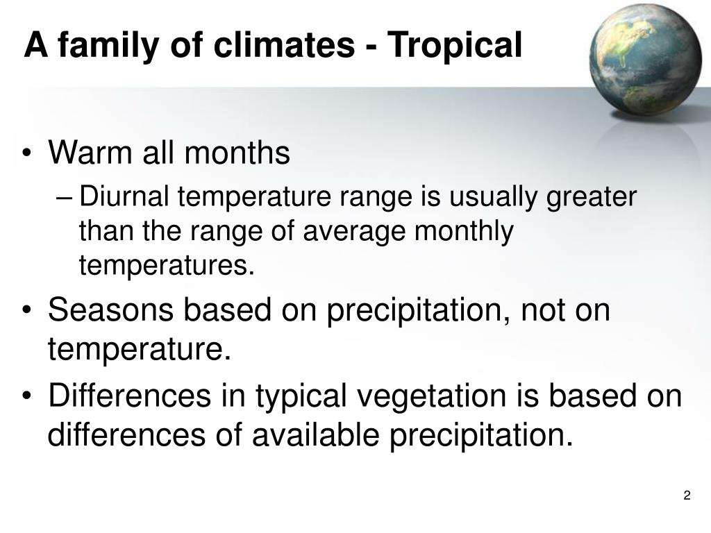 A family of climates - Tropical
