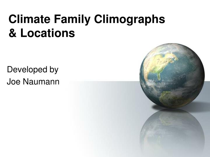 Climate family climographs locations