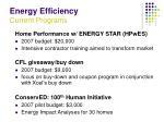 energy efficiency current programs26